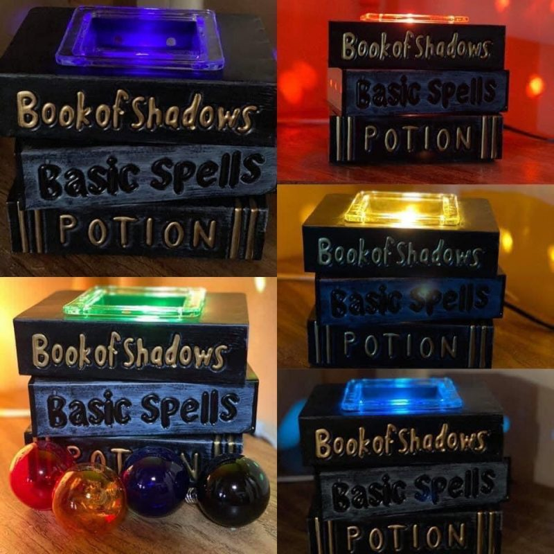 Under My Spell Scentsy Warmer, Read 'em and shriek! Conjure spooky Halloween vibes with this wizard-worthy stack of spell books