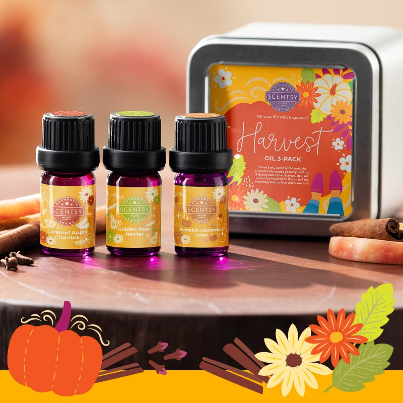 Scentsy Harvest Oil 3-Pack