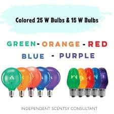 Scentsy Coloured Light Bulbs